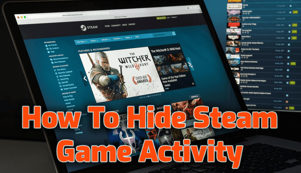 how to hide game activity on steam
