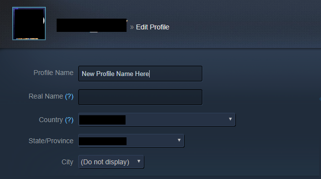 Changing a profile name is not difficult.
