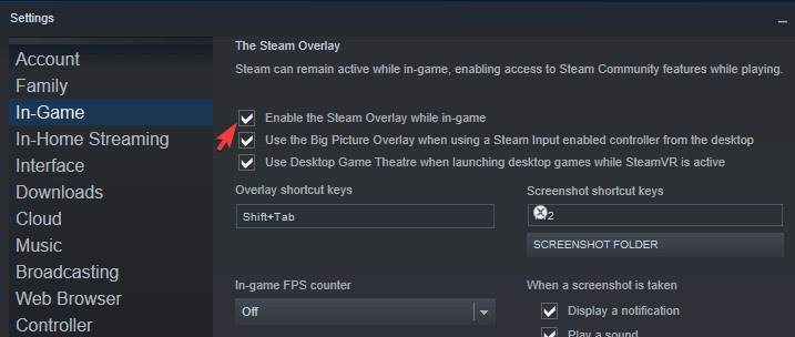 Disable the overlay