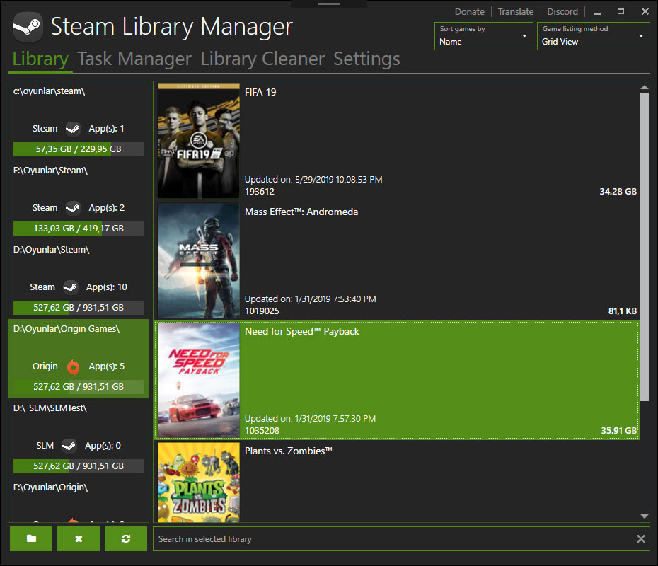 Work on the Library manager