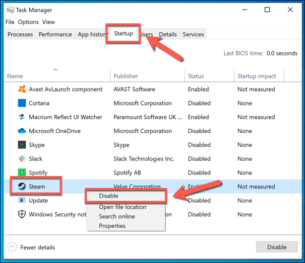 You can avoid Steam's auto-start via the Task Manager.