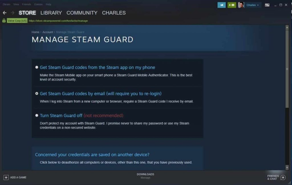 Enable Steam Guard on your Steam account