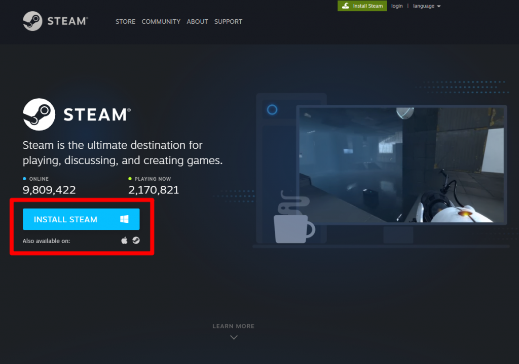 Restart steam from within the app